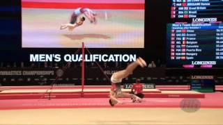 ALEKSANDROV Yordan (BUL) - 2015 Artistic Worlds - Qualifications Floor Exercise
