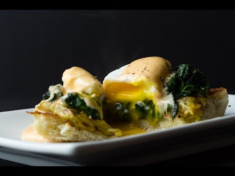 Vegetable Benedict with Sriracha Hollandaise