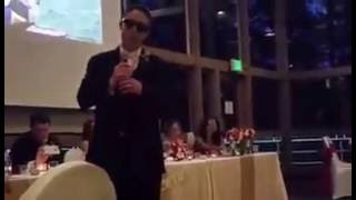 EPIC: Groom's wedding speech to bride that was rapped to Gangsta's Paradise.