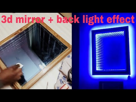 Make an LED illusion mirror 2.0! Latest + backlight effect