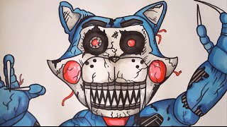 How To Draw Nightmare Candy Cat From FNAC FNAF Step By Step (My Version)