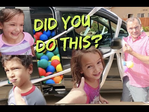 KIDS PRANKED US! Filled the VAN with Ball Pit Balls!!