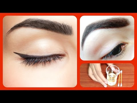 Thumbnail: How to Get Thick Eyebrows fast and naturally / home remedies for dark and thick eye brows