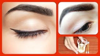 How to Get Thick Eyebrows fast and naturally  / home remedies for dark and thick eye brows