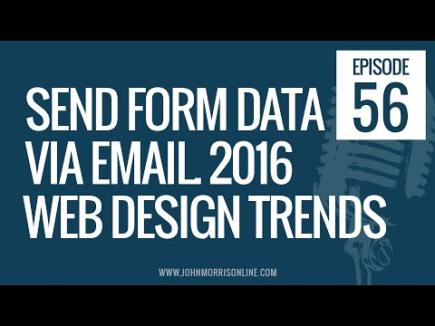 JMS056: Send Form Data Via Email, 2016 Web Design Trends, The Risk-Takers Mindset and More