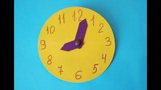 Как сделать часы из картона своими руками. Поделки для детей в школу.