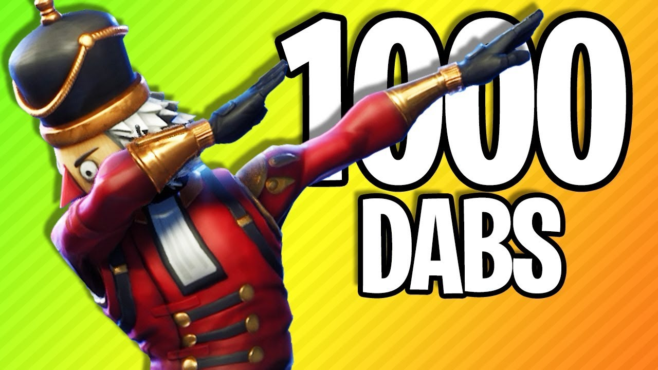 What 1000 Dabs In Fortnite Looks Like Fortnite Battle Royale Youtube
