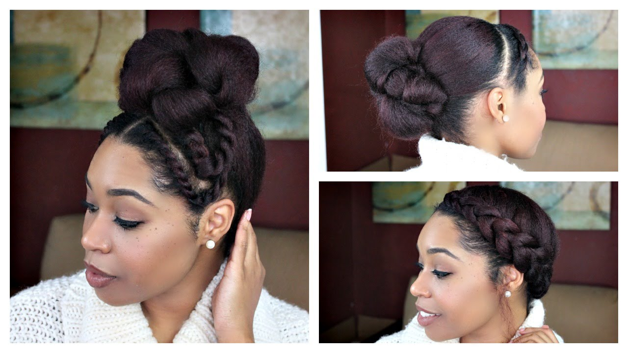 natural hair | 3 quick hair styles for a blow out - youtube