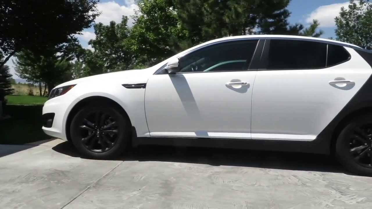 Kia Optima Plasti Dip Rims Tinted Windows Vinyl Wrap