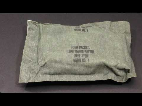 1968-72 Vietnam Era Menu 7 Beef Stew Lrp Lrrp Long Range Reconnaissance Patrol Ration MRE Review