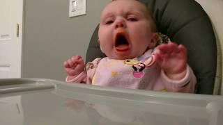 Cute baby hates food thumbnail