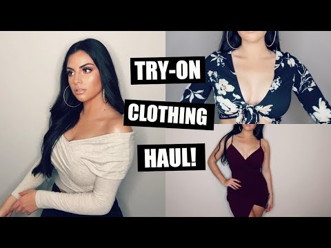 TRY-ON CLOTHING HAUL+HOMECOMING DRESS IDEAS♡