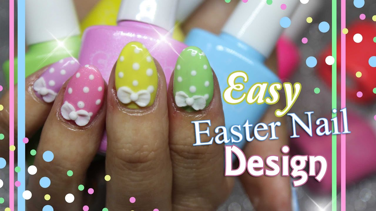 Easter nail art short acrylic nails with gel polish easter easter nail art short acrylic nails with gel polish easter design youtube prinsesfo Choice Image