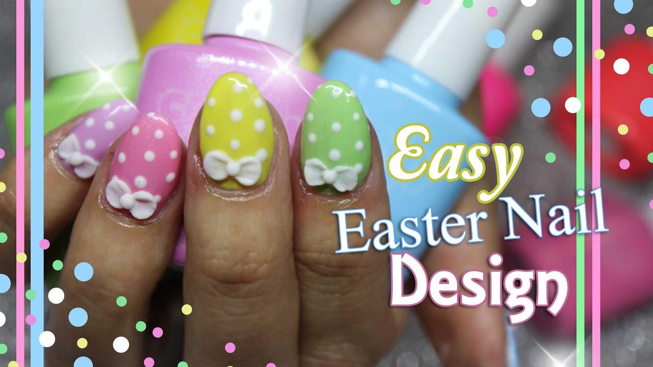 Easter Nail Art   Short acrylic nails with gel polish ...