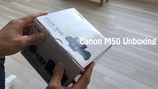 캐논 m50 언박싱 간단하게 ! (Canon m50 u…