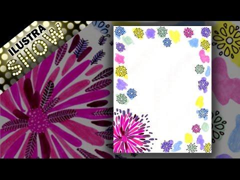 Como decorar carta de amor explosion de flores dibujar - Como adornar una pared ...