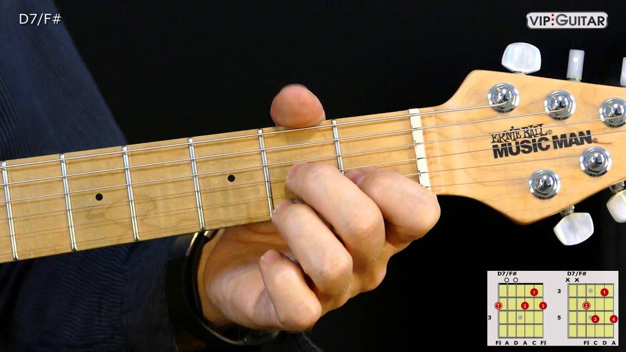 Gitarrenakkorde D 7f D7f Chord Youtube