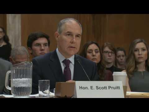 SCOTT PRUITT confirmation hearing for TRUMP's  EPA (1/18/2017) (Part 2) Live Stream