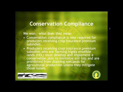 2014 Farm Bill -  What Does it Mean for Conservation and Sustainable Agriculture?