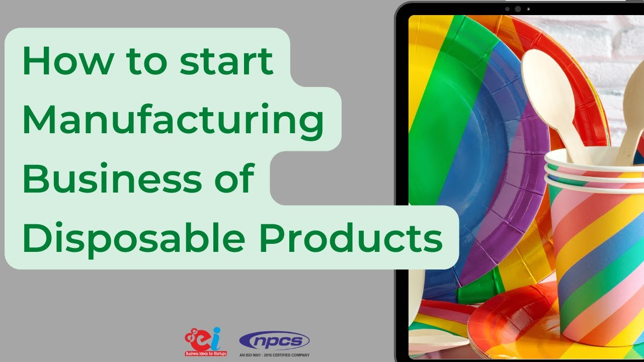 sc 1 st  YouTube & How to Start Manufacturing Business of Disposable Products - YouTube