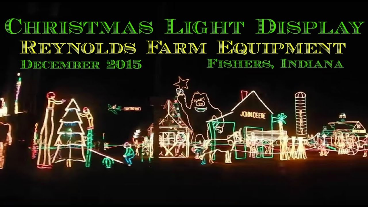 CHRISTMAS LIGHTS At Reynolds Farm Equipment - YouTube