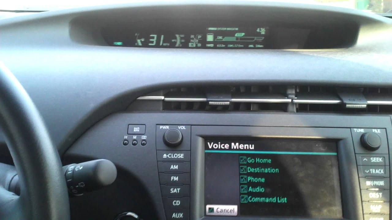 prius voice commands