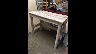 DIY $15 rustic wood desk project.  Easy and fun. Good for all skill levels.