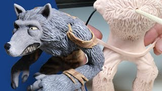 Sculpting a WEREWOLF from Polymer Clay - Expanding My Monster Universe & Creating Your Requests E05