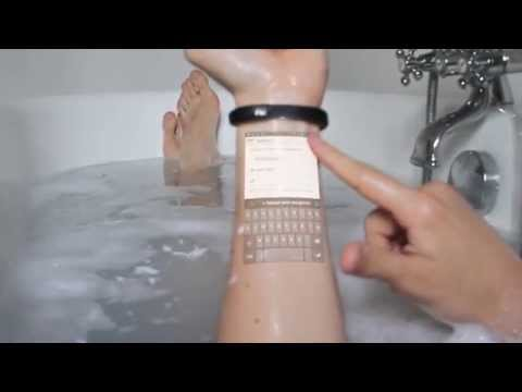 The Cicret Bracelet: Answer emails in your bathtub