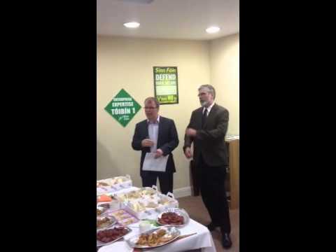 Peadar Toibin and Gerry Adams