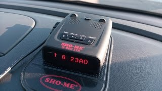 радар-детектор Sho-Me G-800 STR (тест работы)