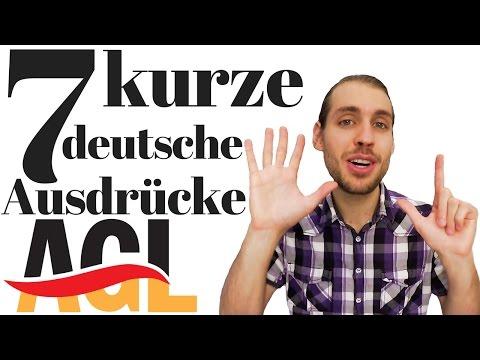 Speak like a native: 7 kurze deutsche Ausdrücke (2 Wörter) | Umgangssprache - Slang [learn German]