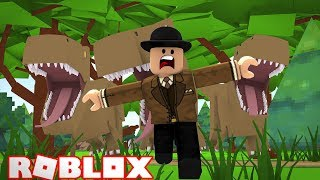 I GET STUCK IN JURASSIC WORLD AND CHASED BY DINOSAURS! Roblox Jurassic World Tycoon!