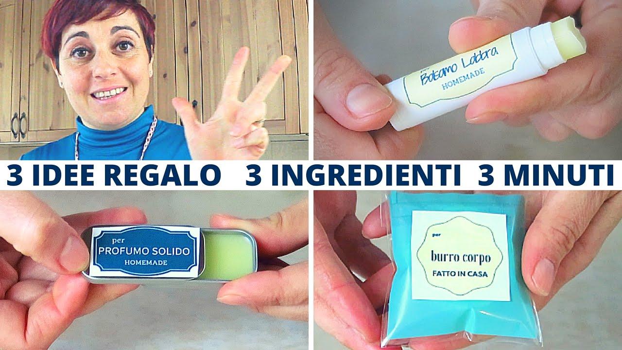 3 idee regalo fai da te con 3 ingredienti base  Balsamo Labbra Profumo Solido e Burro Corpo
