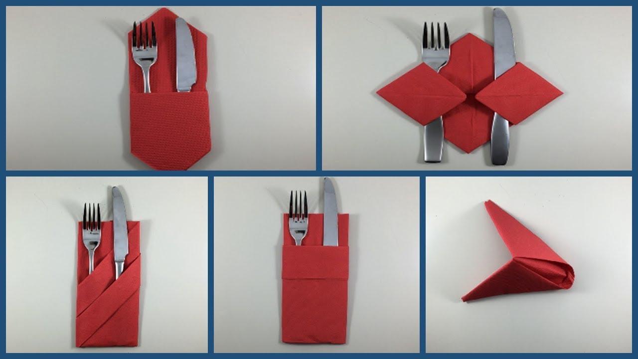 Come Piegare Tovaglioli Di Carta.5 Modi Per Piegare Tovaglioli Di Carta Per Natale How To Fold A Napkin Christmas