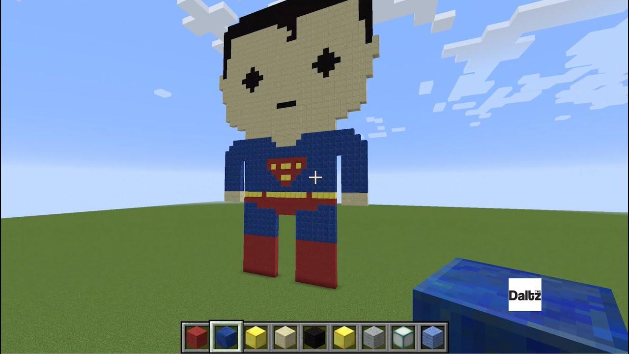 Minecraft Pixel Art Superman