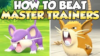 How To Beat Rattata & Raticate Master Trainers Guide!