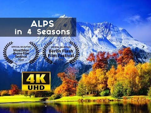 EPIC Alps in 4 Seasons 4k from Above | Switzerland, Germany, and Italy