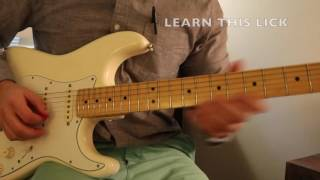 Learn This Lick In A Minor With Tabs & Backing Track