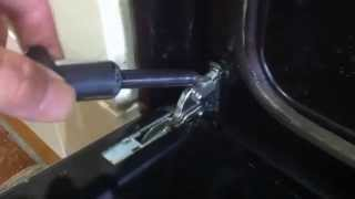 Electric oven cooker door removal guide.  Easy step by step.