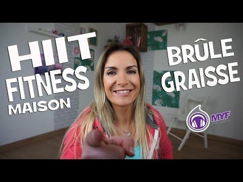 HIIT FITNESS maison - BRULE GRAISSE - 20 mn - Jessica Mellet