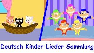 Musik für kinder - Drei kleine Katzen + 16 min kinderlieder auf deutsch