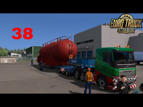 Let's Play Euro Truck Simulator 2 - Italia DLC Part 38 First Special Transport The Heat Exchanger