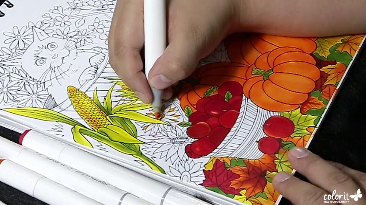 Freebie Friday by ColorIt (Free Adult Coloring Pages) - Autumn Cats ...
