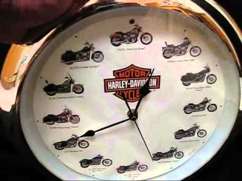 Harley Davidson Wall Clock With Sounds On The Hour Nice