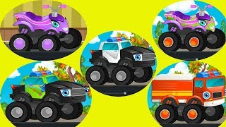 Car Loader Trucks for kids - Cars toys videos, police chase, fire truck - kids toys