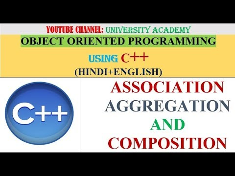 OOP | ASSOCIATION, AGGREGATION AND COMPOSITION in C++