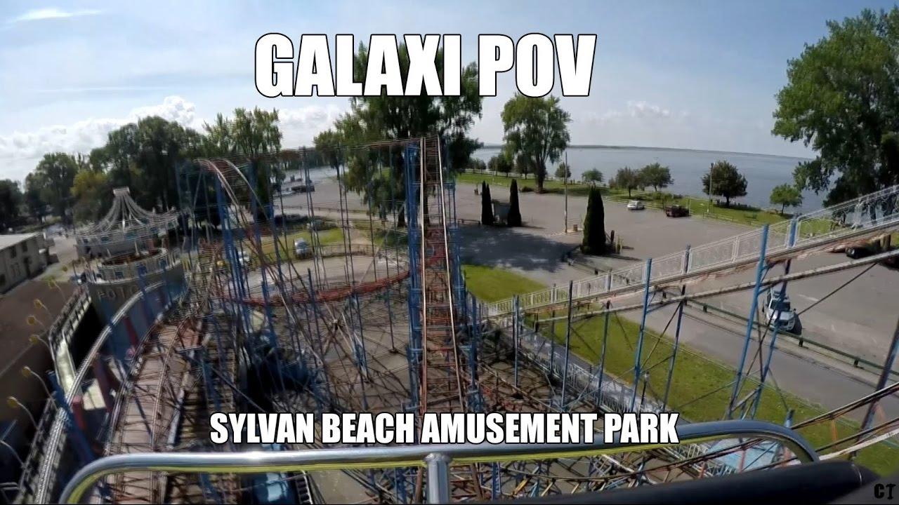 galaxi roller coaster sylvan beach amusement park pov