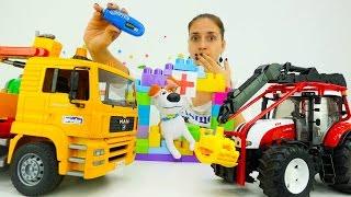 Видео про большие машины: строим больницу для Макса