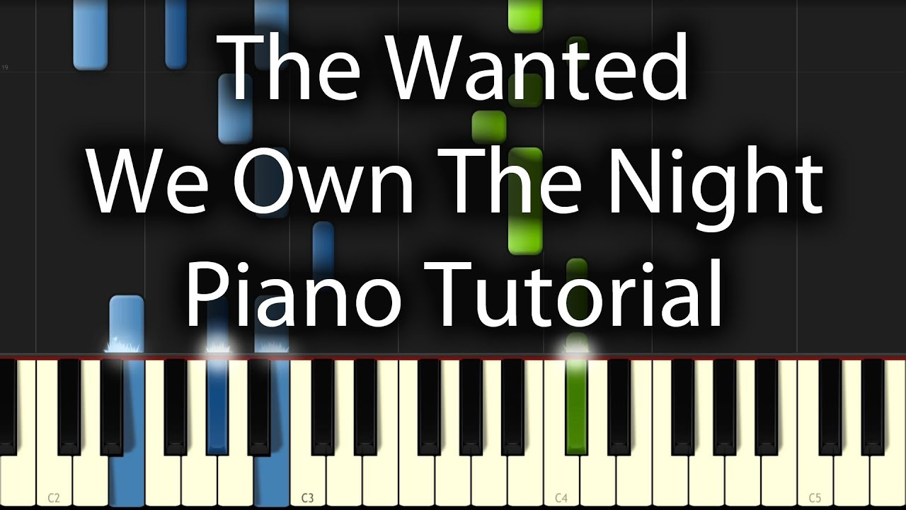 partition piano the wanted we own the night